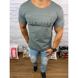 Camiseta Tommy Hilfiger- Diferenciada Cinza⭐ - Shopgrife