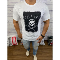 Camiseta Cavalera Branco - CAV35 - DROPA AQUI