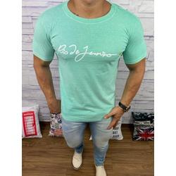 Camiseta OSK Verde Agua ⭐ - COK57 - Queiroz Distribuidora Multimarcas