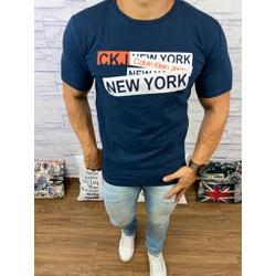 Camiseta Ck Azul Marinho⭐ - Shopgrife