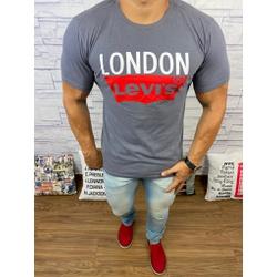Camisetas Levi's Cinza Escuro - CLES20 - Queiroz Distribuidora Multimarcas