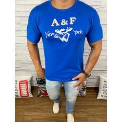 Camiseta Abercrombie Azul Royal⭐ - CABR34 - Out in Store