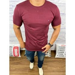 Camiseta Tommy Hilfiger Vinho - CITH116 - Queiroz Distribuidora Multimarcas