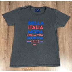 Camiseta Fila - Chumbo⭐ - Shopgrife