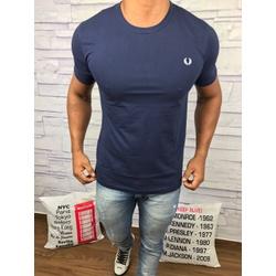 Camiseta Fred Perry - Azul Marinho Logo branco⭐ - ... - Queiroz Distribuidora Multimarcas
