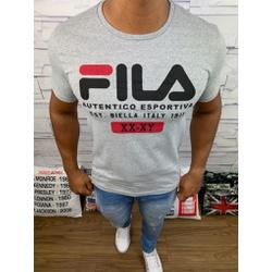 Camiseta Fila - Cinza - Shopgrife