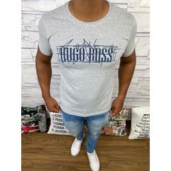 Camiseta Hugo Boss - Promoção - Cinza - JHK7 - RP IMPORTS