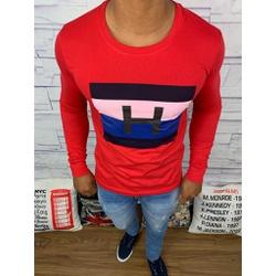 Camiseta Manga Longa Tommy Hilfiger - Vermelha ⭐ -... - RP IMPORTS