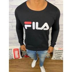 Blusa de Frio Fila - Moletinho Preto - FG84 - Queiroz Distribuidora Multimarcas