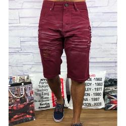 Bermuda Jeans JJ - Marsala⭐ - WQSS7 - Queiroz Distribuidora Multimarcas