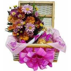 Baú Top com Flores - CAFECOMPAO