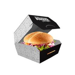 EMBALAGEM HAMBURGUER TRADICIONAL BLACK GOURMET - 50 UNIDADES - MIX0090BG - CaixaMix Embalagens