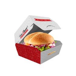 EMBALAGEM HAMBURGUER TRADICIONAL RED GOURMET - 50 UNIDADES - MIX0090RG - CaixaMix Embalagens