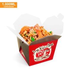EMBALAGEM BOX ANTIVAZAMENTO YAKISOBA COMIDA JAPONESA 1000ML - 50 UNIDADES - MIX0081VERM - CaixaMix Embalagens