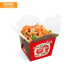 EMBALAGEM BOX ANTIVAZAMENTO YAKISOBA COMIDA JAPONESA 800ML - 50 UNIDADES - MIX0082VERM - CaixaMix Embalagens