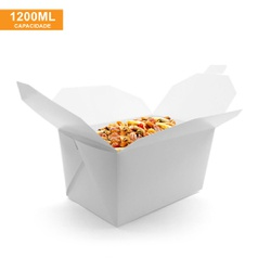 EMBALAGEM BOX ANTIVAZAMENTO 1200ML BRANCA - 50 UNIDADES - MIX0006BR - CaixaMix Embalagens