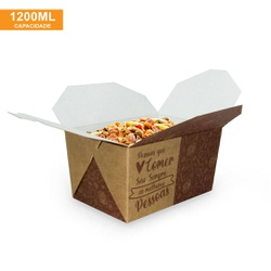 EMBALAGEM BOX ANTIVAZAMENTO 1200ML KRAFT GOURMET- 50 UNIDADES - MIX0006KG - CaixaMix Embalagens