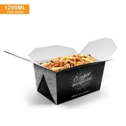 EMBALAGEM BOX ANTIVAZAMENTO 1200ML BLACK GOURMET- 50 UNIDADES - MIX0006BG - CaixaMix Embalagens