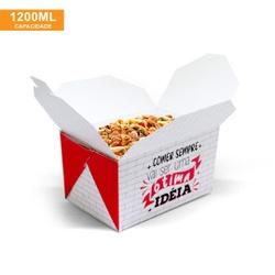 EMBALAGEM BOX ANTIVAZAMENTO 1200ML RED GOURMET- 50 UNIDADES - MIX0006RG - CaixaMix Embalagens