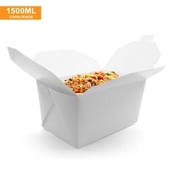 EMBALAGEM BOX ANTIVAZAMENTO 1500ML BRANCA- 50 UNIDADES - MIX0005BR - CaixaMix Embalagens