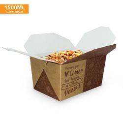 EMBALAGEM BOX ANTIVAZAMENTO 1500ML KRAFT GOURMET- 50 UNIDADES - MIX0005KG - CaixaMix Embalagens