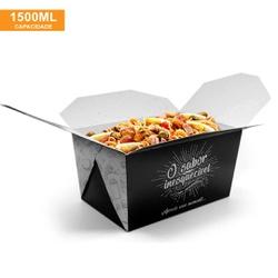 EMBALAGEM BOX ANTIVAZAMENTO 1500ML BLACK GOURMET- 50 UNIDADES - MIX0005BG - CaixaMix Embalagens