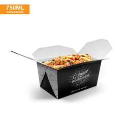 EMBALAGEM BOX ANTIVAZAMENTO 750ML BLACK GOURMET- 50 UNIDADES - MIX0007BG - CaixaMix Embalagens
