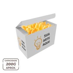 -CAIXA PARA BATATA FRITA DELIVERY PERSONALIZADA - 1000 Unidades - MIX0052PERS1000 - CaixaMix Embalagens