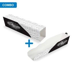 EMBALAGEM CHURROS DELIVERY BLACK GOURMET - 50 UNIDADES - MIX0076011BG - CaixaMix Embalagens