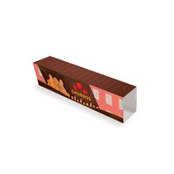 EMBALAGEM ENVOLTÓRIO PARA SUPORTE CHURROS CHOCOLATE - 50 UNIDADES - MIX0076CH - CaixaMix Embalagens