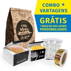 COMBO + VANTAGENS BLACK GOURMET - COMBO100BG - CaixaMix Embalagens