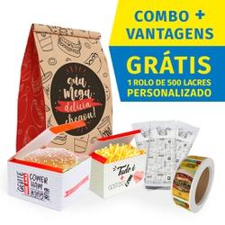 COMBO + VANTAGENS RED GOURMET - COMBO100RG - CaixaMix Embalagens