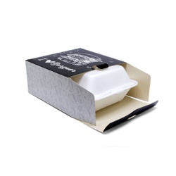 CAIXA PARA ISOPOR HF02 BLACK GOURMET - 50 UNIDADES - MIX0055B - CaixaMix Embalagens