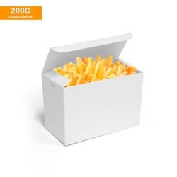 CAIXA PARA BATATA FRITA DELIVERY BRANCA - 50 UNIDADES - MIX0052BR - CaixaMix Embalagens