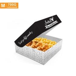 CAIXA PARA FRITURAS DELIVERY MÉDIA BLACK GOURMET - 50 UNIDADES - MIX0060BG-M - CaixaMix Embalagens