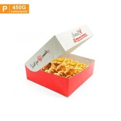 CAIXA PARA FRITURAS DELIVERY PEQUENA RED GOURMET- 50 UNIDADES - MIX0059RG-P - CaixaMix Embalagens