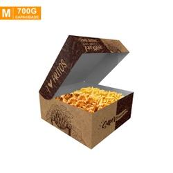 CAIXA PARA FRITURAS DELIVERY MÉDIA KRAFT GOURMET- 50 UNIDADES - MIX0060KG-M - CaixaMix Embalagens