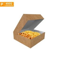 CAIXA PARA FRITURAS DELIVERY PEQUENA KRAFT - 50 UNIDADES - MIX0059K-P - CaixaMix Embalagens
