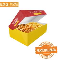 -CAIXA PARA FRITURAS DELIVERY EXTRA GRANDE PERSONALIZADA - 1000 UNIDADES - MIX0067PERS1000 - CaixaMix Embalagens