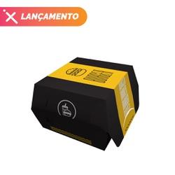 EMBALAGEM HAMBURGUER TRADICIONAL BLACK YELLOW - 50 UNIDADES - MIX0090BY - CaixaMix Embalagens