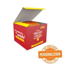 -CAIXA LANCHE HAMBURGUER EXTRA GRANDE PERSONALIZADA - MIX0002PERS - CaixaMix Embalagens