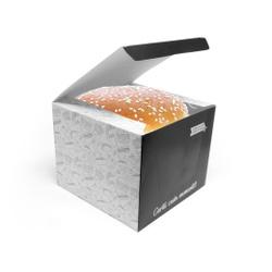 CAIXA LANCHE HAMBURGUER EXTRA GRANDE BLACK GOURMET- 50 UNIDADES - MIX0002BG - CaixaMix Embalagens
