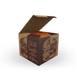 CAIXA LANCHE HAMBURGUER KRAFT GOURMET EXTRA GRANDE - 50 UNIDADES - MIX0002KG - CaixaMix Embalagens