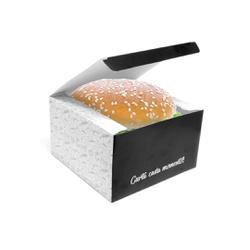 CAIXA LANCHE HAMBURGUER BLACK GOURMET GRANDE - 50 UNIDADES - MIX0032BG - CaixaMix Embalagens