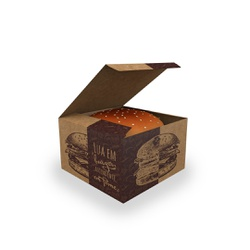 CAIXA LANCHE HAMBURGUER KRAFT GOURMET GRANDE - 50 UNIDADES - MIX0032KG - CaixaMix Embalagens