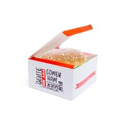 CAIXA LANCHE HAMBURGUER GRANDE RED GOURMET- 50 UNIDADES - MIX0032RG - CaixaMix Embalagens
