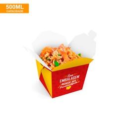 EMBALAGEM BOX ANTIVAZAMENTO YAKISOBA COMIDA JAPONESA 500ML PERSONALIZADO - MIX0083PERS - CaixaMix Embalagens