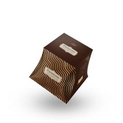 EMBALAGEM PANETONE PREMIUM CHOCOLATE - 50 UNIDADES - MIX0228CH - CaixaMix Embalagens
