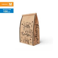 SACO S.O.S DELIVERY SEU PEDIDO CHEGOU - TAMANHO M | 100 UNIDADES - MIX0098M - CaixaMix Embalagens