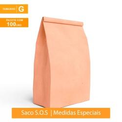 SACO S.O.S PREMIUM PARA DELIVERY LISO - TAMANHO G | 100 UNIDADES - MIX0193 - CaixaMix Embalagens